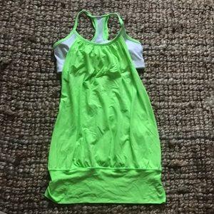 Fun neon lululemon workout top